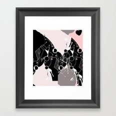 geometric_graypink Framed Art Print