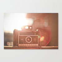 polaroid Canvas Prints featuring Polaroid by Tosha Lobsinger is my Photographer