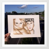 paper towns Art Prints featuring Paper Towns Drawing by dancing_papers