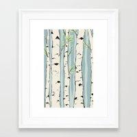 birch Framed Art Prints featuring Birch by Marlene Pixley