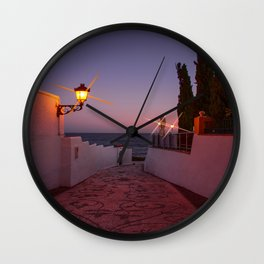 Pathway to the Sea - Sunset image Wall Clock