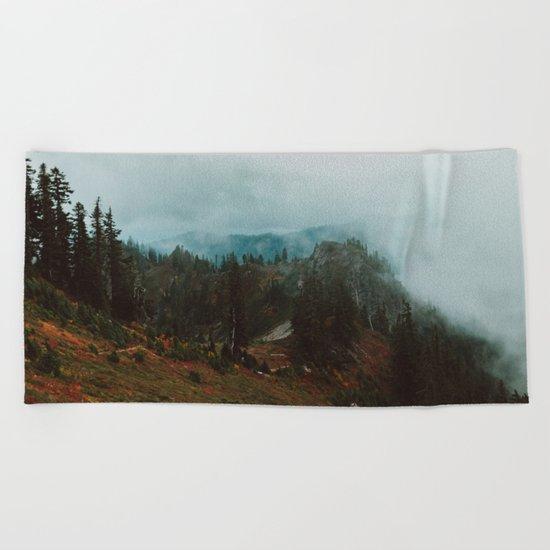 Park Butte Lookout - Washington State Beach Towel