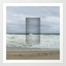 The Seaward Door (Square) Art Print