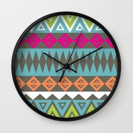 Aztec Pattern No. 17 Wall Clock