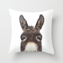 Hey Donkey Throw Pillow