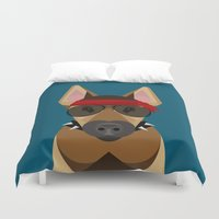 harley Duvet Covers featuring Harley by Sarah Becker