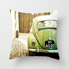 Mrs Olive Green Throw Pillow