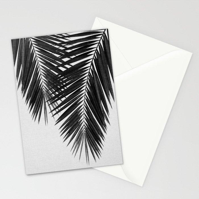 Palm Leaf Black & White II Stationery Cards