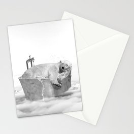 POLAR BEAR BATH Stationery Cards