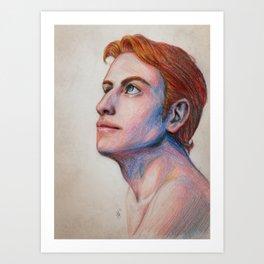 Rand al'Thor sketch Art Print