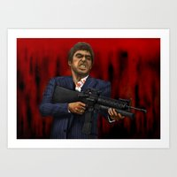 scarface Art Prints featuring Scarface by Ben Hayward