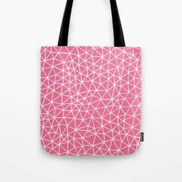 Connectivity - White on Pink Tote Bag