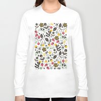 french Long Sleeve T-shirts featuring Very Berry by Poppy & Red
