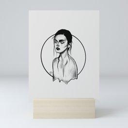 The Girl With Scar Mini Art Print