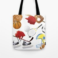 sports Tote Bags featuring sports! by Guixarades