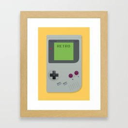 Retro Gameboy Framed Art Print