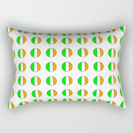 flag of ireland 12 -ireland,eire,airlann,irish,gaelic,eriu,celtic,dublin,belfast,joyce,beckett Rectangular Pillow