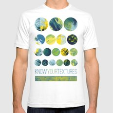 Know Your Textures SMALL White Mens Fitted Tee