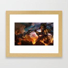 Classic Jarvan IV League of Legends Framed Art Print