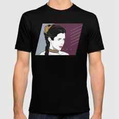 80s Princess Leia Slave Girl Mens Fitted Tee Black LARGE