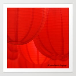 Red lanterns Art Print