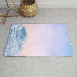Pink Sunset Blue Wave Paradise Rug