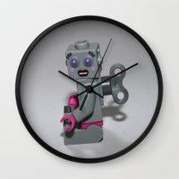 clockwork Wall Clocks featuring Clockwork by liberthine01