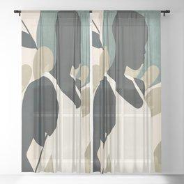 Tropical Girl 9 Sheer Curtain