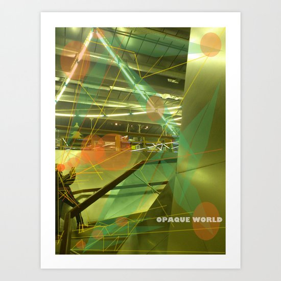 Photographer of steel stairs Art Print