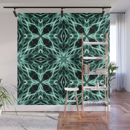 Abstract Geometric Light Factual Kelly Green Wall Mural