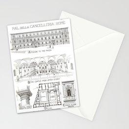 Fletcher's History of Architecture (1946) - Italian Renaissance - Palazzo della Cancelleria, Rome Stationery Cards