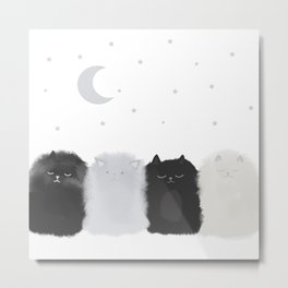 Sleep like Cats Metal Print