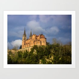 Basilica of Santa Maria la Real of Covadonga Art Print