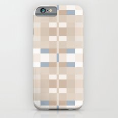 Beige and Blue Color Blocks Geometric Pattern iPhone 6s Slim Case