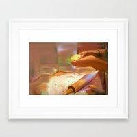 baking Framed Art Prints featuring Baking by Karen Herman Jacquez