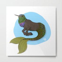 Humming Hypocampus Metal Print