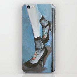 Blue Umbrella iPhone Skin