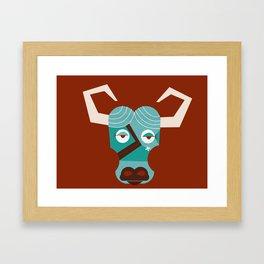 Babe the Blue Ox (Maroon) Framed Art Print