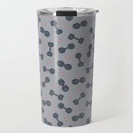 I LOVE STRENGTH (Light Background Option) Travel Mug