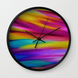 ETHEREAL SKY - Large Abstract Sky Oil Painting Wall Clock