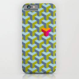 Be yourself - geomtric op art pattern iPhone Case