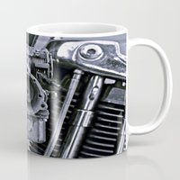 motorcycle Mugs featuring MOTORCYCLE  by ALX RUTECKI