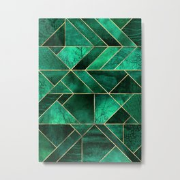 Abstract Nature - Emerald Green Metal Print