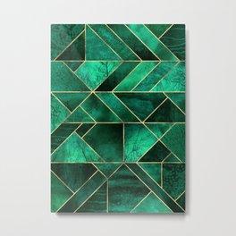 Abstract Nature - Emerald Green Metal Print