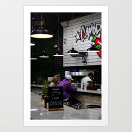 Lunch time - Camden Market, London, UK. Art Print