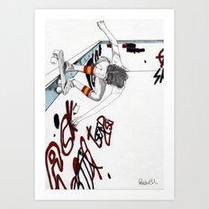 Skater Girl - Part One - Skater Art Print