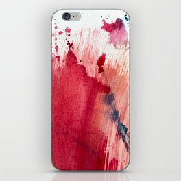 Blushing [3]: a vibrant, minimal abstract in pink, red, rose gold, and blue details iPhone Skin