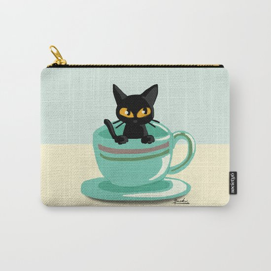 Cat in the cup Carry-All Pouch