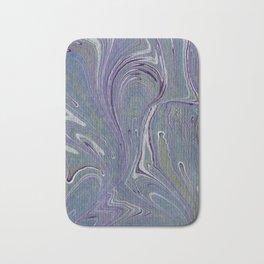 Purple, Blue, & Green Marbled Bath Mat