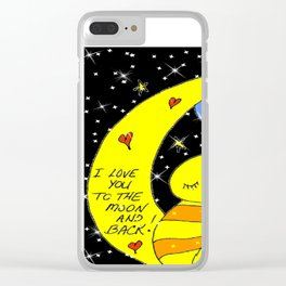 """Love You"" (to the moon and back) Clear iPhone Case"